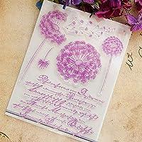 ACHICOO スタンプ 透明 子供 日記 スクラップブック ギフトカード 装飾 DIY 美しいタンポポスタイル 透明スタンプ