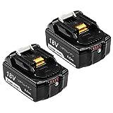 Boetpcr BL1860B マキタ18vバッテリー マキタ互换バッテリー マキタバッテリー 6.0Ah 18vバッテリー 2個セット LED残量表示 電動工具専用 バッテリー BL1830   BL1840   BL1850   BL1860 対応 一年品質保証