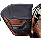 MDW 4 Pcs Improved Version Adjustable Universal Fit Car Side Window Shade Baby Sun Shade,Fits Most Cars and SUV Easy to Install (4 Contoured )