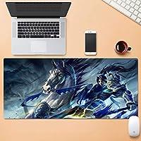 大型耐摩耗Esportsもゲーム拡張コンピュータのキーボードマウスパッド防水デスクマットロックエッジノンスリップラバーベース30x80cm QDDSP (Color : A, Size : 3mm)