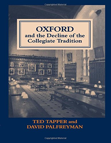 Download Oxford and the Decline of the Collegiate Tradition (Woburn Education Series) 0713002123