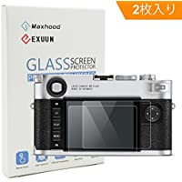 【Maxhood】(2枚入り) ライカLeica M10 (Typ 3656) 強化ガラススクリーンプロテクター、9H硬度0.3mm 超薄型液晶カバー強化ガラス保護フィルム (Leica M10)