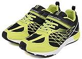 (ムーンスター) MOON STAR バネのチカラ 子供靴 スニーカー 男の子 運動靴 キッズ スーパースター ランニング ブラック 22cm