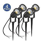 (4個)GUNA 12V 6W LEDスポットライト COB防水芝生ライト ガーデンライト アウトドアライト 屋外の歩道/車道/芝生/庭などの照明用