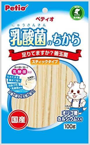 ペティオ (Petio) 犬用おやつ 乳酸菌のちから スティックタイプ 100g×3個(まとめ買い)...