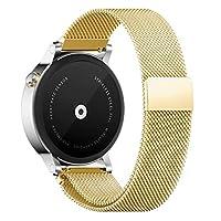 Withings バンド Pinhen Withings Activite 腕時計バンド シリカゲルバンド ワンタッチで装着簡単 バネ棒加工付き対応Huawei Watch Withings Activite (Milanese Gold)