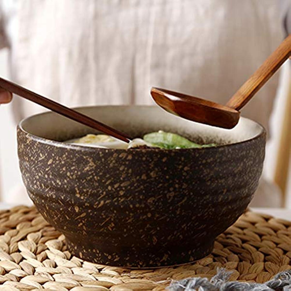 黙認する不名誉時代RL-ボウル レトロ料理セラミック食器家庭用サラダボウルラーメンボウル大スープボウルレストラン麺ボウル (Color : A)