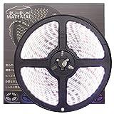 ぶーぶーマテリアル 色が綺麗なLEDテープ ホワイト 白 600 LED 白ベース 5m 12V 防水