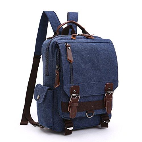 LOSMILE ボディーバッグ リュックサック 2way メンズ レディース 斜め掛け バッグパック キャンバス ショルダーバッグ A4サイズ iPad 13インチPC対応 帆布バッグ 通勤 通学 アウトドア