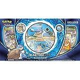 Pokemon Blastoise-Gx Premium Collection Box  3 Foil Cards   6 Booster Pack