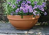 イタリア鉢 リジェッドボール 37cm ディープボール 植木鉢 テラコッタ デローマ 素焼き鉢