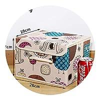 小さなカバーオックスフォード生地収納ボックス下着収納ボックス,綿と麻の収納ボックス,小さなフクロウ