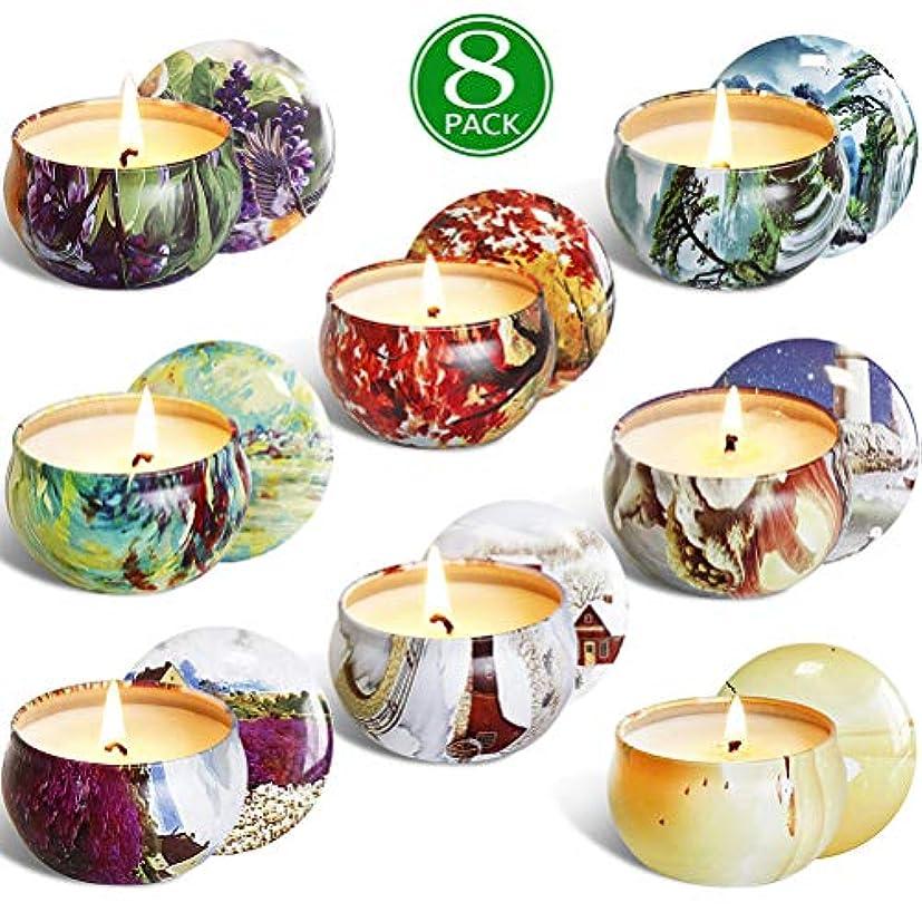 彼らのもの春悪性腫瘍TAIPPAN キャンドル 8個セット香料入りの蝋燭セット 自然な大豆の蝋燭 香りのキャンドル キャンドルギフトセット 飾り 雰囲気作り 和風 結婚式 誕生日 クリスマス プレゼント
