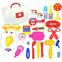 Doctorおもちゃ、pinchuanghui ABS 22pcs Pretend Play Emulational Doctor Playset Role Play for Kids – イエロー