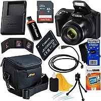 Canon Powershot SX420は20MP Wi-Fiデジタルカメラ 42倍ズーム(ブラック)+Canon NB-11LHバッテリー&充電器+サンディスク32GBデラックスアクセサリーキット9個とHeroFiberウルトラジェントルクロス付き
