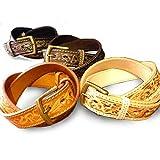 革 ベルト サドルレザー レザーベルト 本革 メンズ 牛革 ハンドメイド 革ベルトカービング belt-cv001 (ブラック)