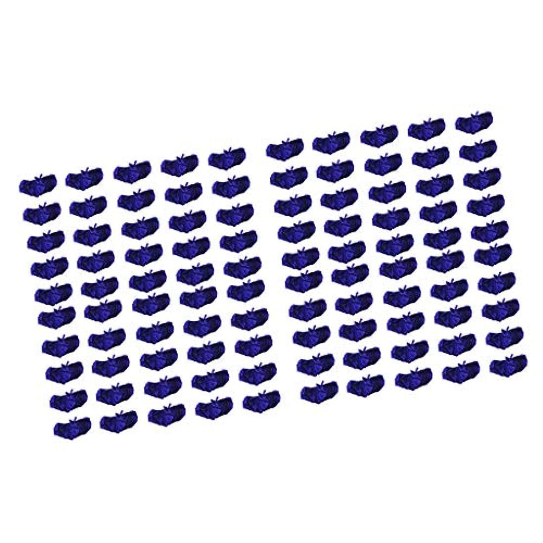 センチメートル恐れる人種P Prettyia ブラジャー ブラ 使い捨て 不織布 マッサージ スパ 美容 サウナ ダークブルー 100個セット