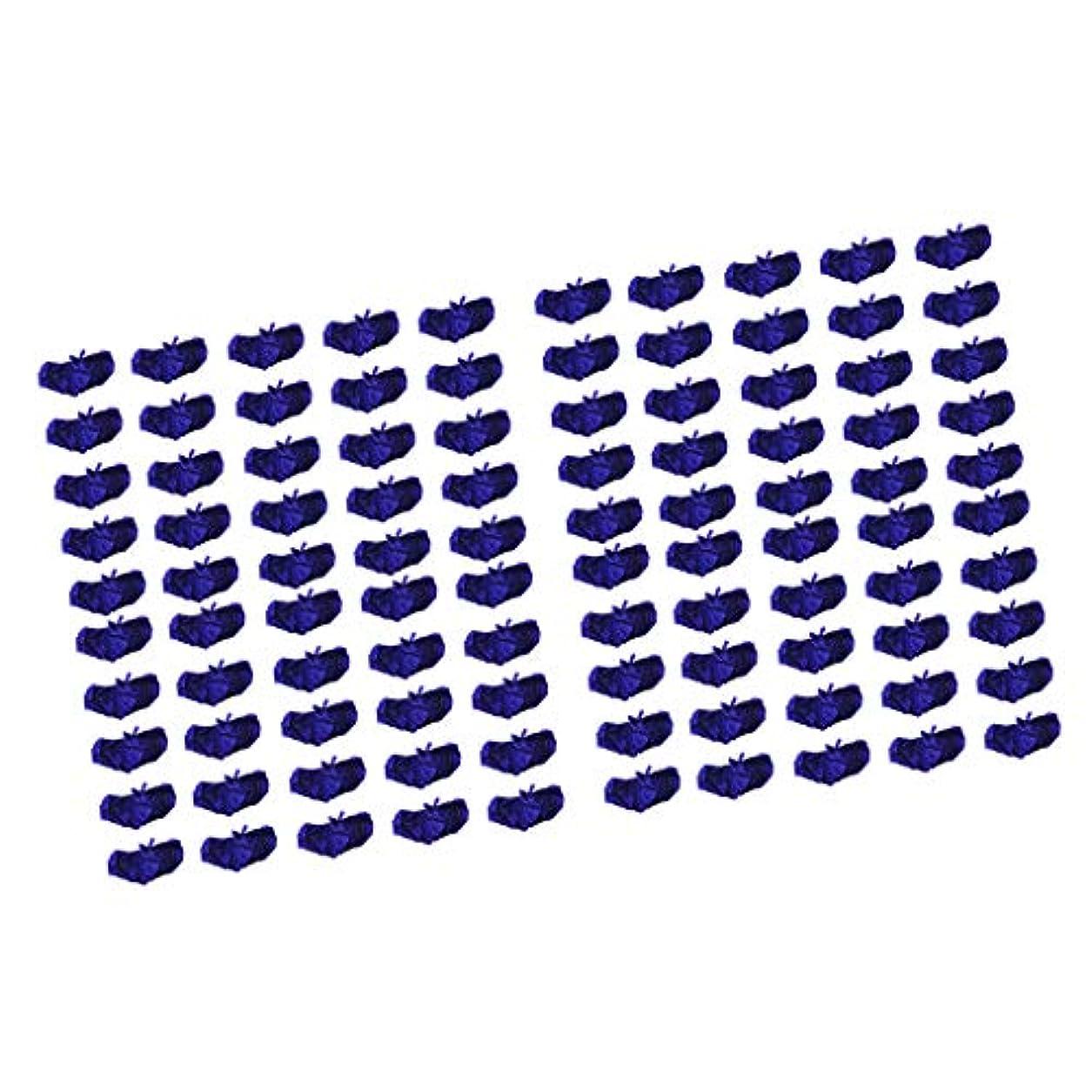 簡略化するアンタゴニストアデレードP Prettyia ブラジャー ブラ 使い捨て 不織布 マッサージ スパ 美容 サウナ ダークブルー 100個セット