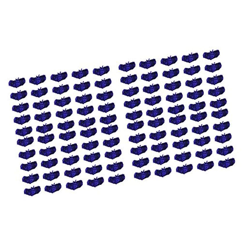 検査資本主義そしてP Prettyia ブラジャー ブラ 使い捨て 不織布 マッサージ スパ 美容 サウナ ダークブルー 100個セット