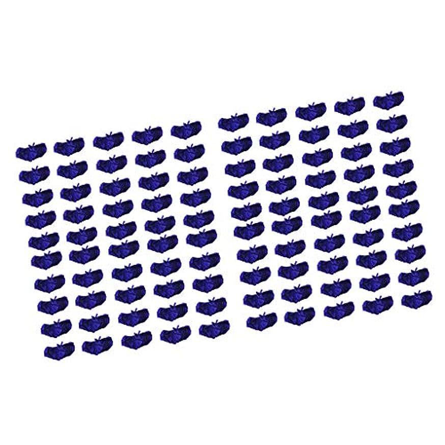 支払いタフ中国P Prettyia ブラジャー ブラ 使い捨て 不織布 マッサージ スパ 美容 サウナ ダークブルー 100個セット