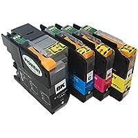 ブラザー ( brother ) LC21E / DCP-J983N 対応 互換インクカートリッジ 4色 残量表示チップ搭載 ( 純正同様 顔料ブラック使用) BK/C/M/Y セット ≪ベルカラー≫