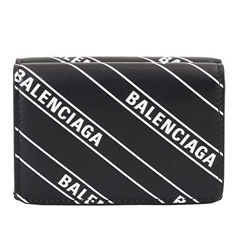 (バレンシアガ) BALENCIAGA 財布 3つ折り コンパクト コインケース 551921 0HIJN 1090 BLACK [並行輸入品]