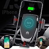 車載Qi ワイヤレス充電器 3in1 スマホホルダー 10W/7.5W急速充電 車載ホルダー 多機能車載スタンド 360度回転 自動開閉スマホスタンド 吸盤スタンド/吹き出し口両用 新型iPhoneサポート 多機種対応 片手操作 過充電防止 画像