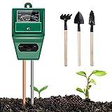 Soil Moisture Meter, 3-in-1 Soil Test Kits Moisture/Light/pH Meter for Garden Farm Lawn Planting Hygrometer Moisture Sensor Indoor/Outdoor Digital Plant Thermometer(No Battery Required)