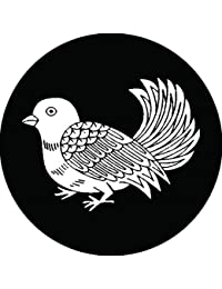 家紋シール 孔雀鳩紋 布タイプ 直径40mm 6枚セット NS4-1219