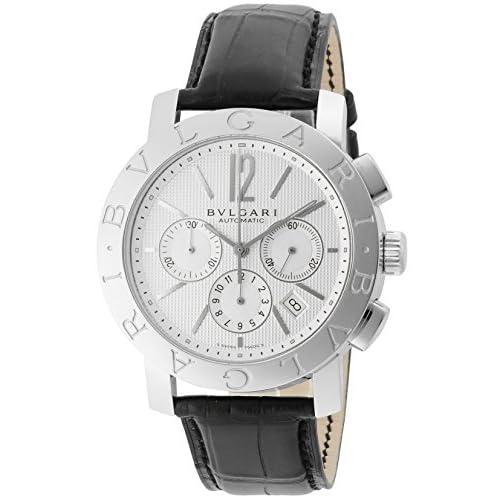 [ブルガリ]BVLGARI 腕時計 ブルガリブルガリ ホワイト文字盤  アリゲーター革ベルト 自動巻 クロノグラフ デイト BB42WSLDCH メンズ 【並行輸入品】