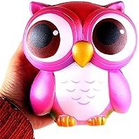 cinhent 1pc Lovelyピンクカラーフクロウ/ユニコーンフリーSensory SqueezeゴムゴムSquishyおもちゃコレクション Diameter 90mm ピンク CIN-0301