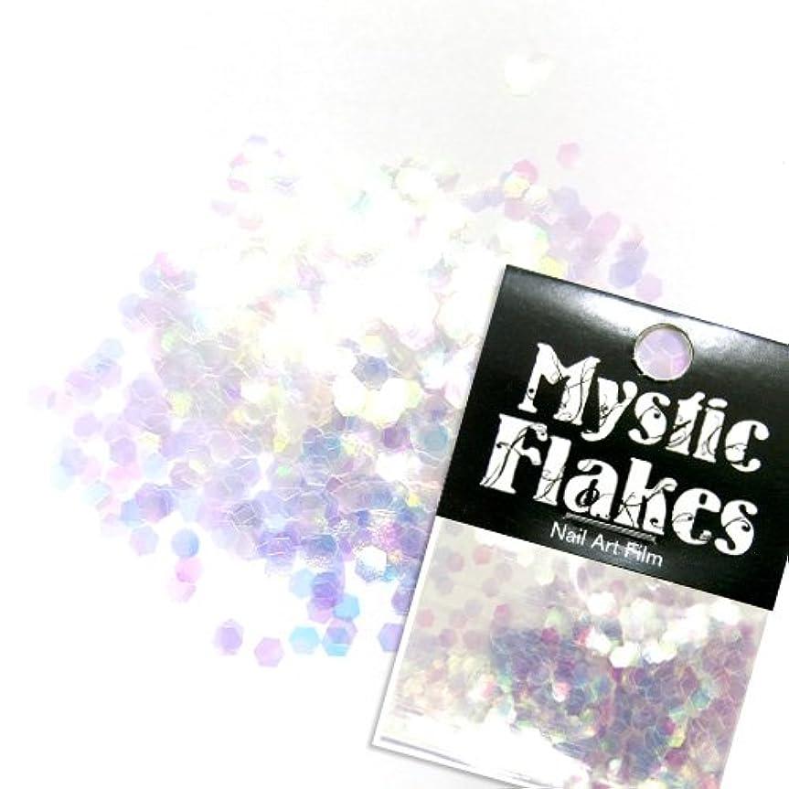 靄ベックス政治家のミスティックフレース ネイル用ストーン オーロラホワイト ヘキサゴン 2.5mm 0.5g