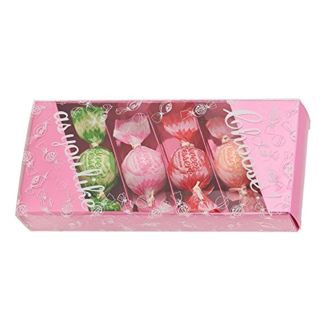 制限された版エンターテインメントアマイワナ バスキャンディー4粒ギフトセット(35g×4個) ピンク(発泡タイプ入浴料 バスギフト)