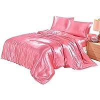 【圣马德拉】被套 3件套 床上用品被罩套装 日本尺码 冰丝材质 具有丝绸的光泽和触感 枕套 床单套 光泽 亲肤 防螨