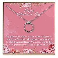 Dear Ava for Godmother ネックレス:ゴッドマザー、バレンタインデー、2連サークル