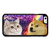 New Funny Doge Dog Meme Cat Rainbow Space Hipster case for iPhone 6 6S 用 カバー ケース