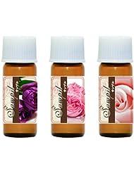 ローズ3種 香り比べ 1ml(25%希釈)×3本 フランス産 ネパール産 モロッコ産 エッセンシャルオイル アロマオイル