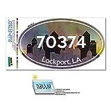 70374 ロックポート, THE - シティ - 楕円形郵便番号ステッカー