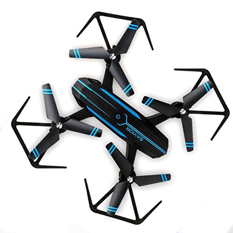 カメラの航空機、リモートコントロールドローイング折りたたみおもちゃの航空機720P広角ドローンインテリジェント無線LANワンキーUavを離陸
