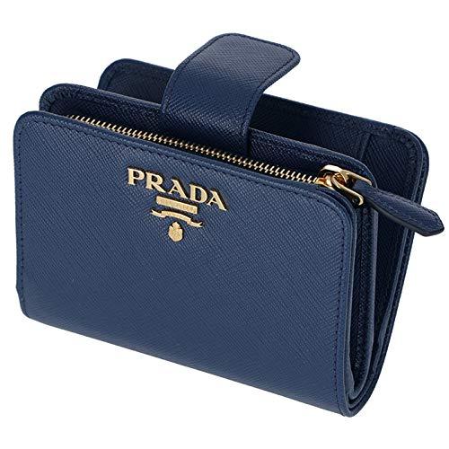 1189e38dd2da PRADA(プラダ) 財布 二つ折り レディース サフィアーノ ミニ財布 二つ折り財布 1ML018 QWA