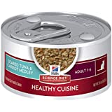 Hill's Science Diet Adult Healthy Cuisine Wet Cat Food, Seared Tuna & Carrot Medley Canned Cat Food, 79g, 24 Pack