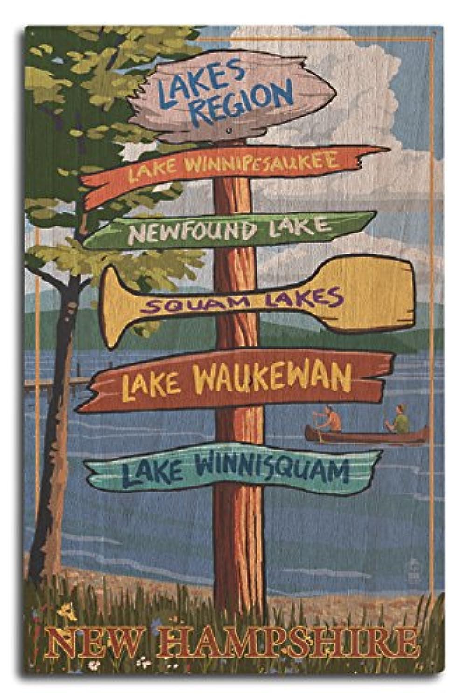 地域、湖ニューハンプシャー – Destination Sign 10 x 15 Wood Sign LANT-40943-10x15W