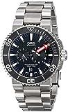 Orisメンズ74976777154MB Aquis Titanium Automatic Watch withリンクブレスレット