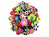crocs Lot of 100 Pcs PVC Different Shoe Charms for Croc & Jibbitz Bands Bracelet Wristband by Unknown by Unknown