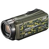 JVC ビデオカメラ Everio R 防水5m 防塵仕様 Wi-Fi対応 内蔵メモリー64GB カモフラージュ GZ-RX600-G ビクター