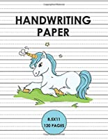 Handwriting Paper: Handwriting Unicorn Notebook for kids 6x9 120 pages, Learn to write alphabets  and improve writing skills with dotted journal for primary, preschool, school, kindergarten, Preschoolers.