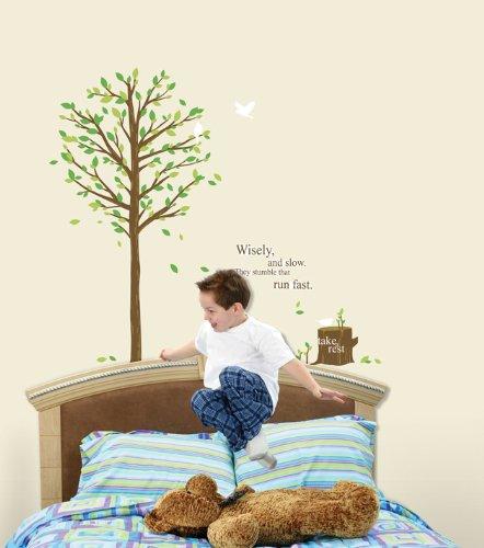壁紙シール 緑の木