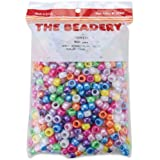 Pony Beads 6mmX9mm 900/Pkg-Pearl Multicolor