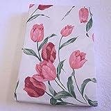 肌掛け布団カバー 120本ガーゼ生地使用 花柄 シングルサイズ ピンク 日本製