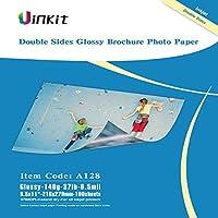 Cardstock 両面光沢写真用紙 100枚 8.5 x 11インチ 6.5ミル 140g インクジェット印刷のみ